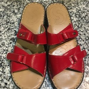 Shoes - Red sandals 37 7.5 8
